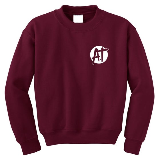 Image of Maroon AT logo sweatshirt