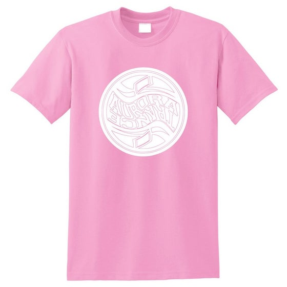 Image of Baby pink twisted logo t-shirt