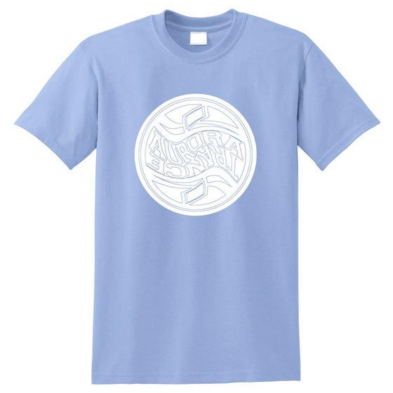 Image of Light blue twisted logo t-shirt