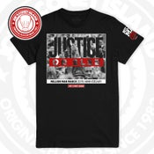 Image of Million Man March 20th anniversary Justice or Else - black red