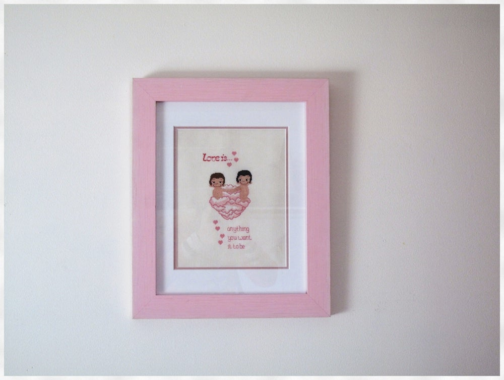 Image of Love is.. - Radical Cross Stitch original