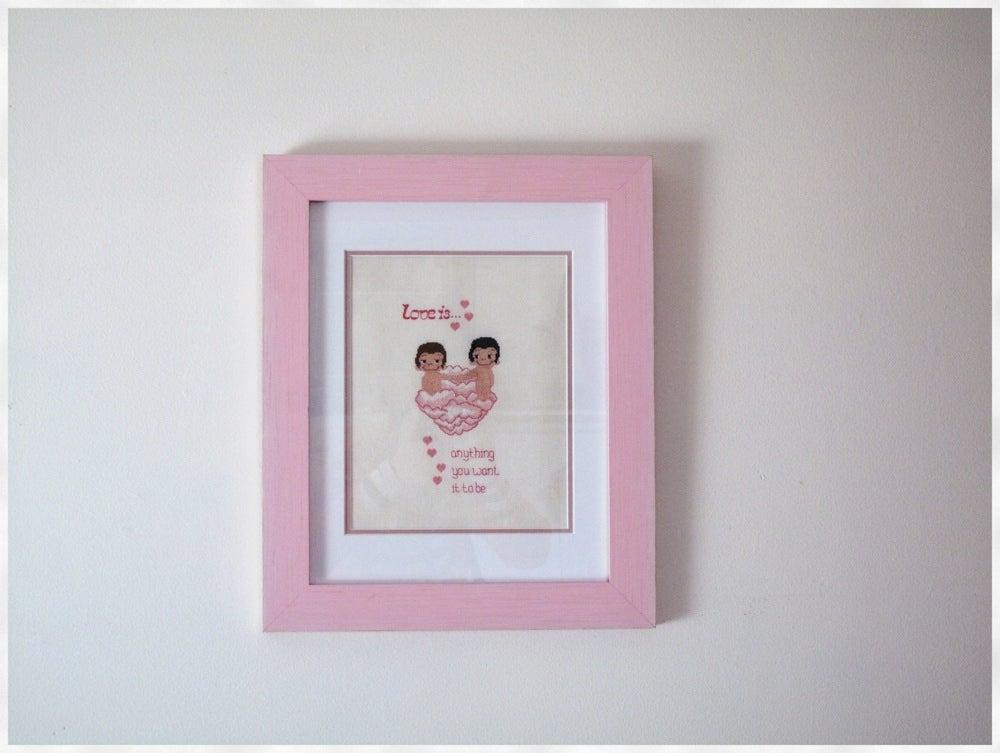 Image of Love is.. - Radical Cross Stitch original