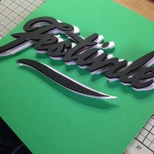 Image of Custom Text 3D Framed Piece