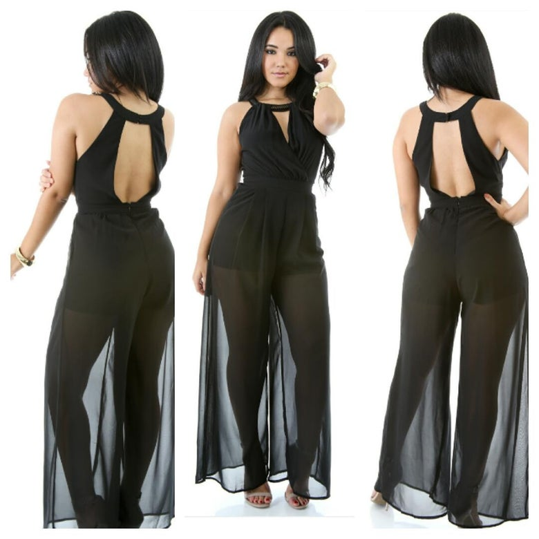 Image of Chokster Jumpsuit (black )