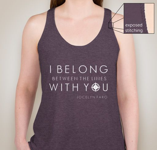 Image of Between the Lines Lyric Racerback