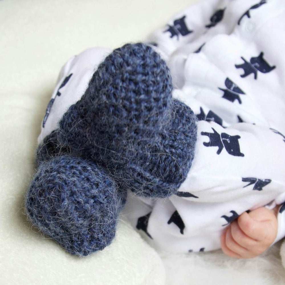 Image of Newborn Hand Knit Booties