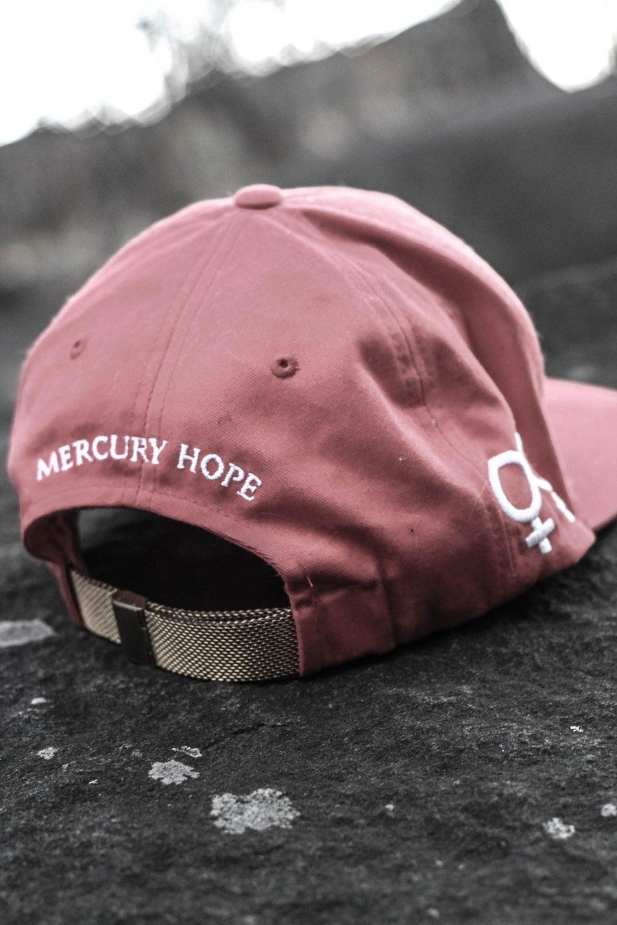 Image of Red Signature Mercury Hope SnapBack Gold 18K Plated