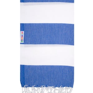 Image of Hammamas Turkish Towel (Azure/White)