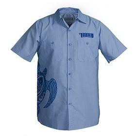 Image of Tatau Turtle Work Shirt Light Blue