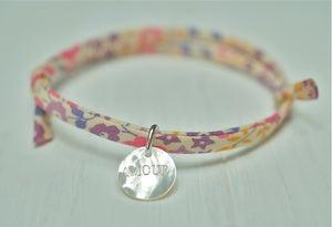 Image of Liberty print fabric bracelet