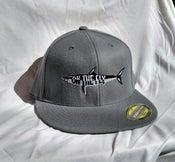 Image of Grey Flat bill flex fit hat