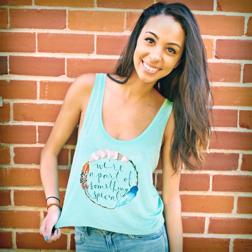 Image of Watercolor Cropped Tank