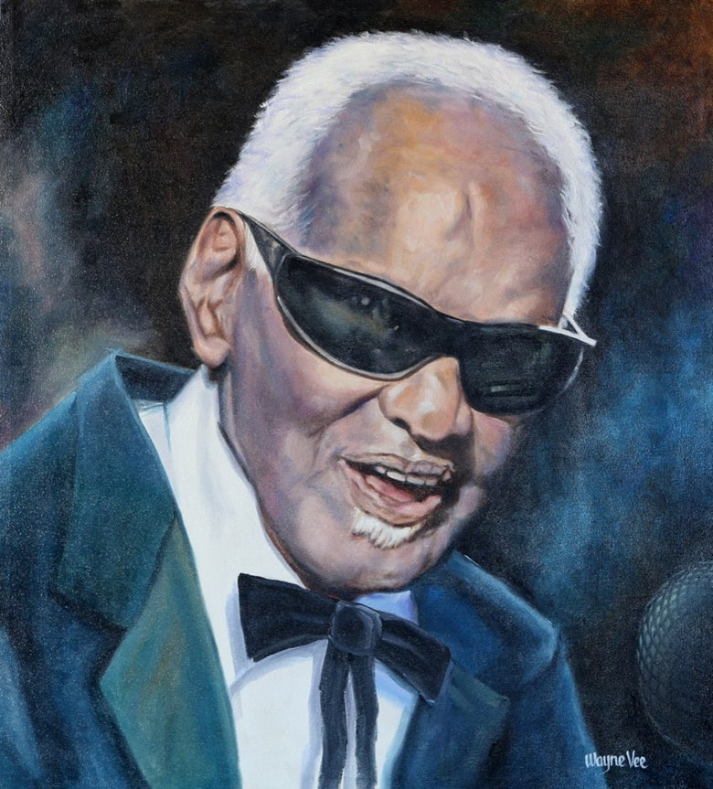 Image of Ray Charles • Original Oil Painting©