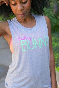 Image of Healthy Bunny Women's Flowy Scoopneck Muscle Tank