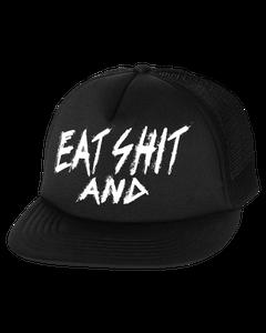 Image of Eat Shit And Die Mesh Snapback (UNDERBRIM PRINT)