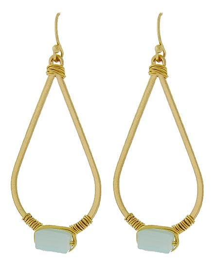 Image of Yera Matte Drop Earrings