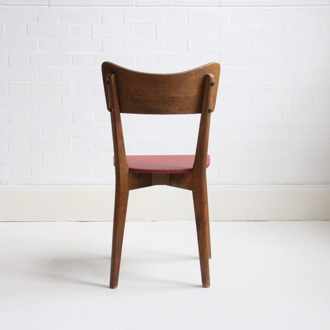 Image of french dining chairs c1950
