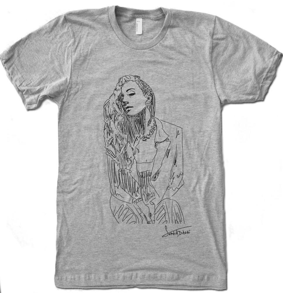 Image of Sophia Danai; Line Art T-Shirt