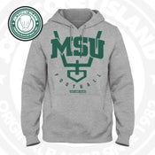 Image of JCI x M$U Football - Grey Hoodie Green trim