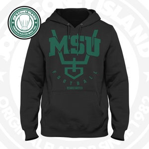 Image of JCI x M$U - Black Hoodie Green Trim