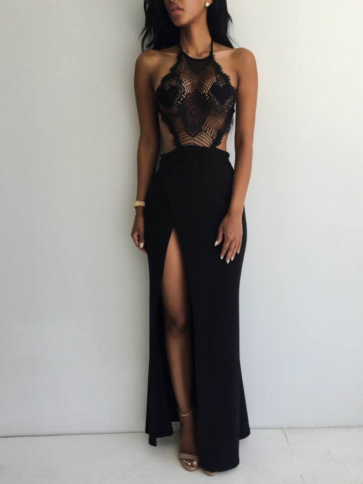 Image of hot lace straps dress