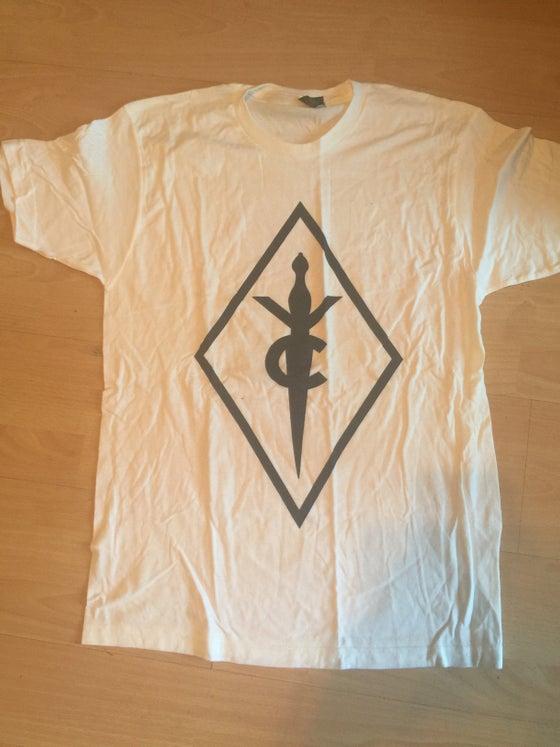 Image of White Plain Diamond Logo Shirt