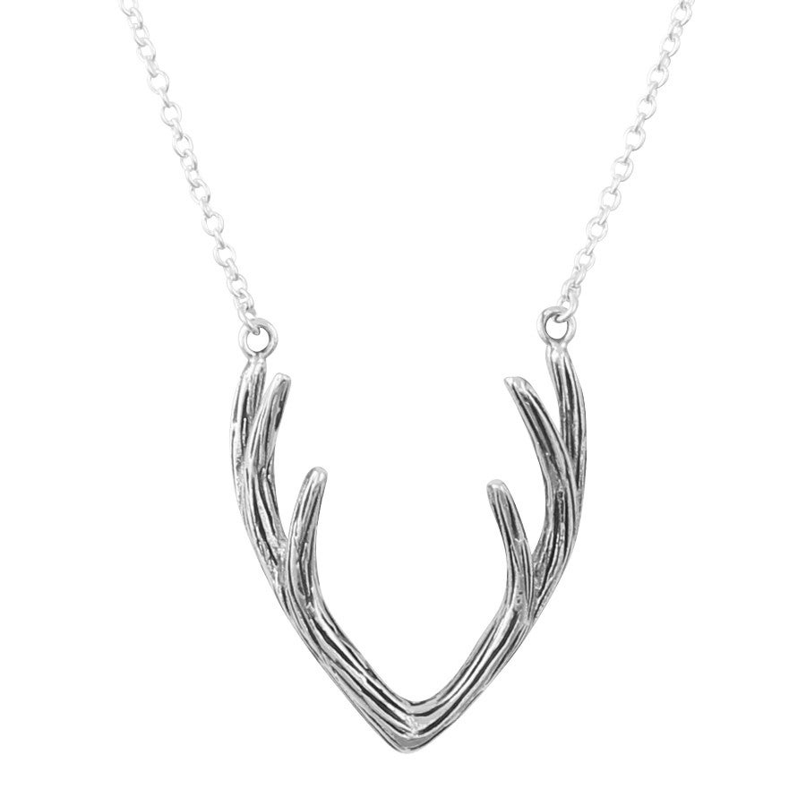 Image of Sterling Silver Antler Necklace