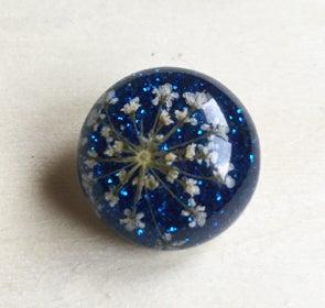 Image of Botón Flores Secas Color Azul