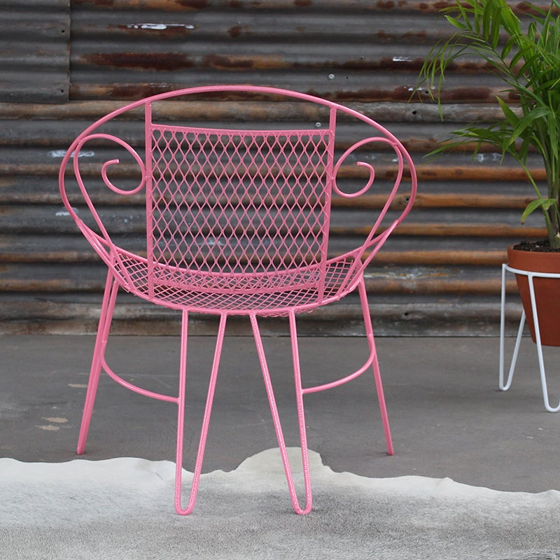 Image of Vintage Outdoor chair in Pink