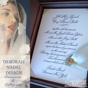 Image of Luxury Invitations Deborah Nadel Design