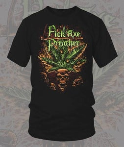 "Image of Pick Axe Preacher: ""Marijuana Skull T-Shirt"""