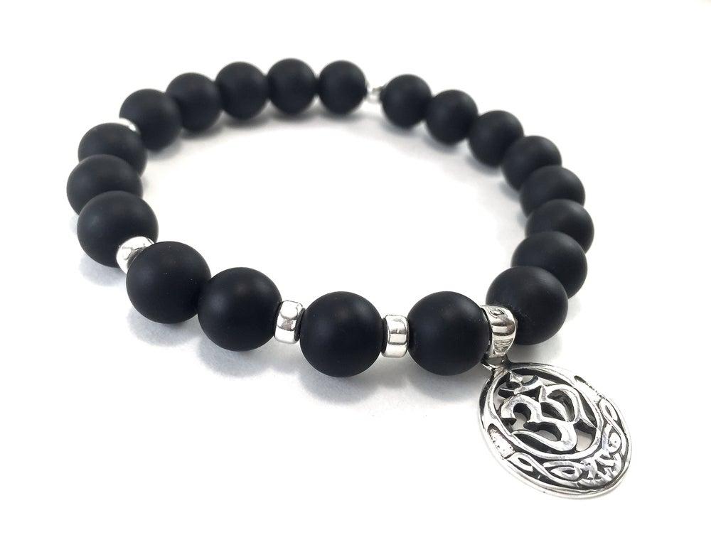 Image of Men's Infinity Wrist Malas Onyx & OM