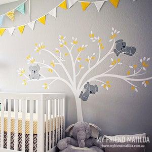 Image of Modern Koala Cuteness Tree Wall Decal