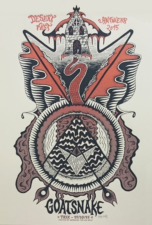 Image of GOATSNAKE (Desert Fest Antwerp 2015) screenprinted poster