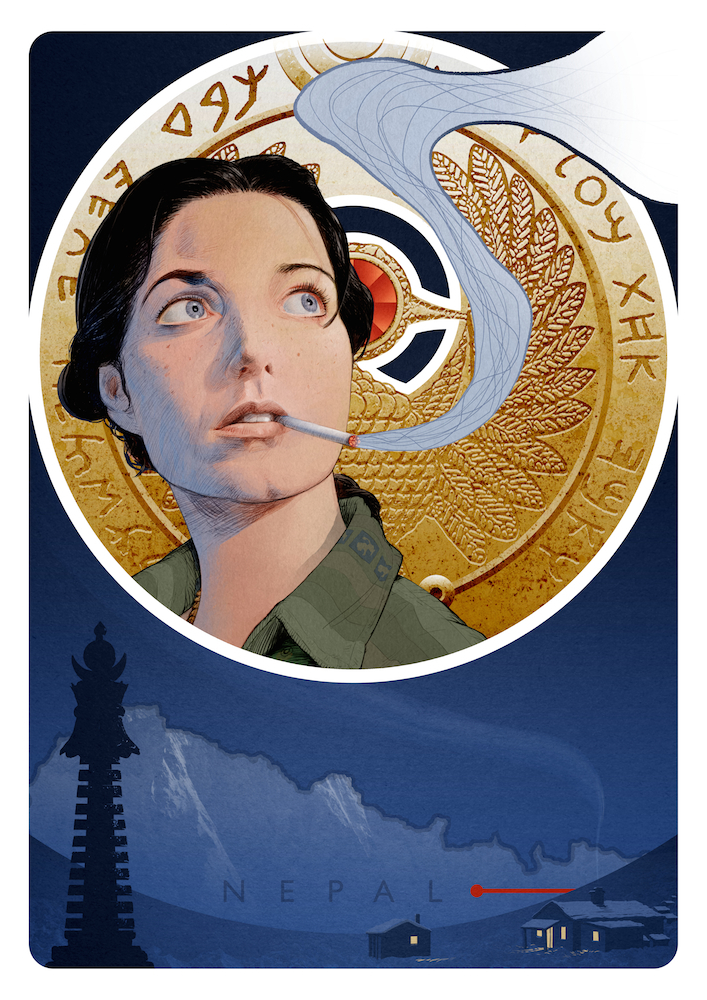 Image of Nepal Earthquake fundraiser print - Marion Ravenwood, Raiders Of The Lost Ark