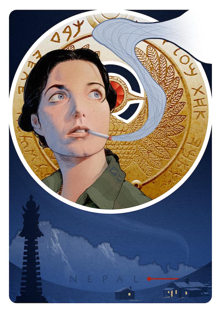 Image of Nepal Earthquake fundraiser print - Marion Ravenwood, Raiders Of The Lost Ark
