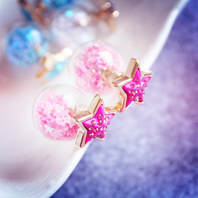 Image of Pink Starry Studs