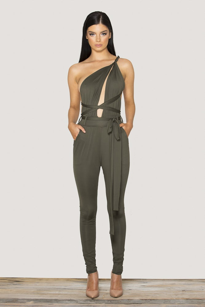 Image of HOT DEEP V SEXY SHOW BODY JUMPSUIT