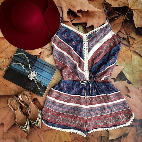 Image of HOT COLORFUL CLASSY ROMPER JUMPSUIT PLAYSUIT
