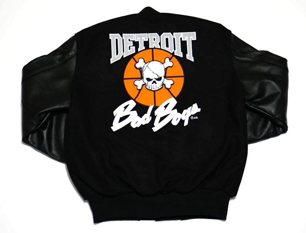 Image of Detroit Bad Boys Varsity Jacket Black