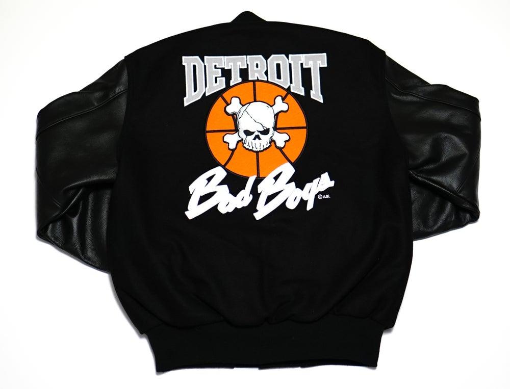 Image of Detroit Bad Boys Varsity Jacket Black