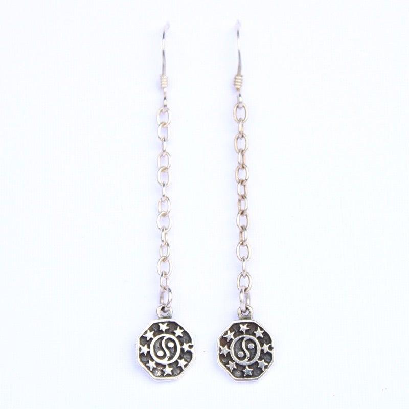 Image of Yin Yang Drop Earrings