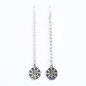 Image of Yin Yang Drop Earrings