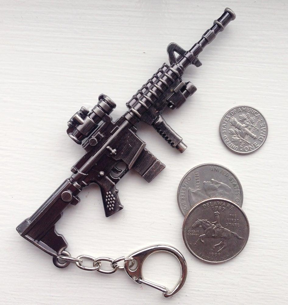 Image of Metal AR15 Keychain