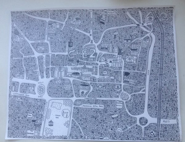 Image of Chesterfield Doodle Map