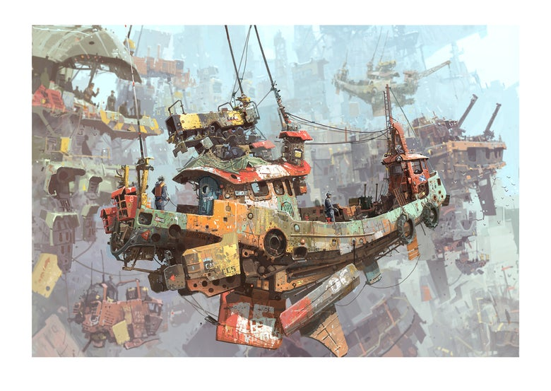 Image of 'Arrival at Sky Harbour' print