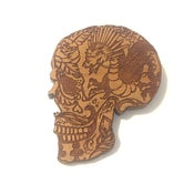 Image of Day of the Dead Illustrated Laser Engraved Dragon Sugar Skull