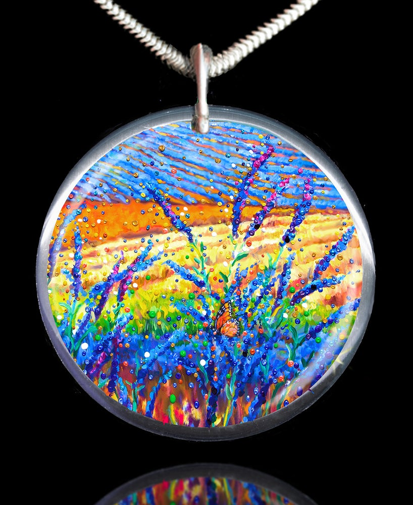 Image of Lavender Fields Sacred Healing Space Pendant