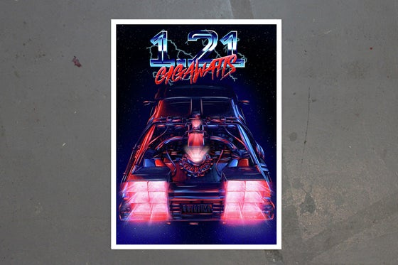 Image of 1.21 GIGAWATTS Giclee print by New Rule
