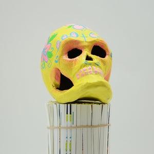 Image of Yellow Sugar Skull